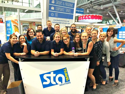 Tiffany with her STA Travel team at the 2015 NAFSA Conference & Expo