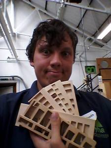 Reed blocks and a silly face