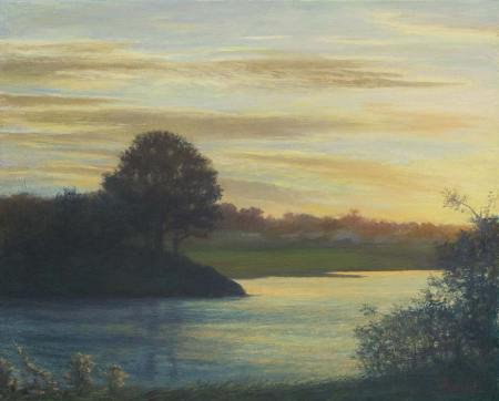 Annisquam-Sunset-Art Consultants-Paintings-for-health-wellbeing-