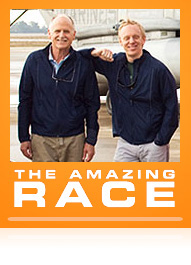 Mel White and Mike White in the Amazing Race