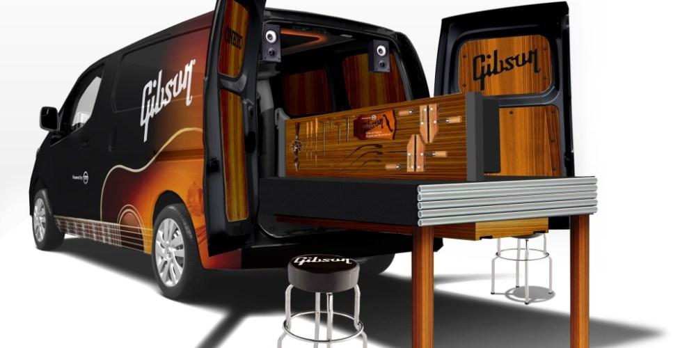 Nissan y Gibson se unen para crearel primer taller móvil para guitarras dentro de una NV200