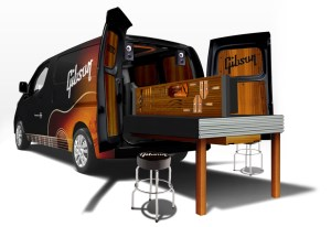 Nissan and Gibson Combine Forces with NV200 Mobile Guitar Workshop