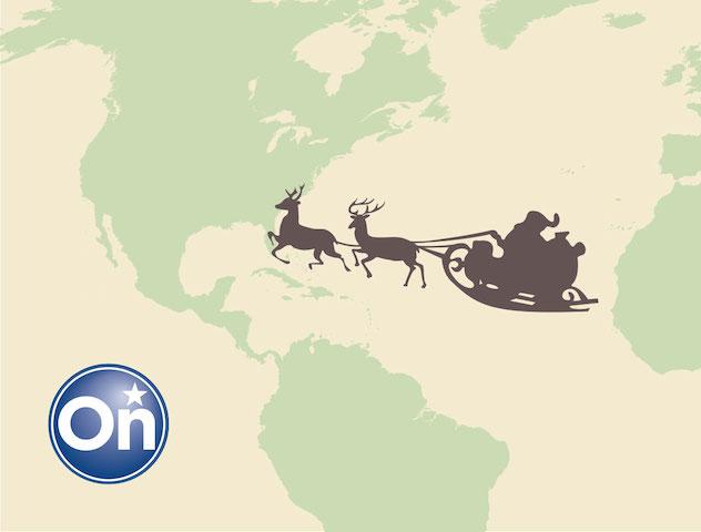 ¿En dónde está Santa Claus? OnStar sigue su recorrido desde el Polo Norte