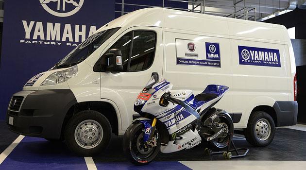 Fiat Professional apoyando al equipo Yamaha Factory Racing