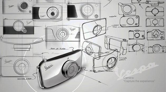 Si Vespa hiciera cámaras así serían