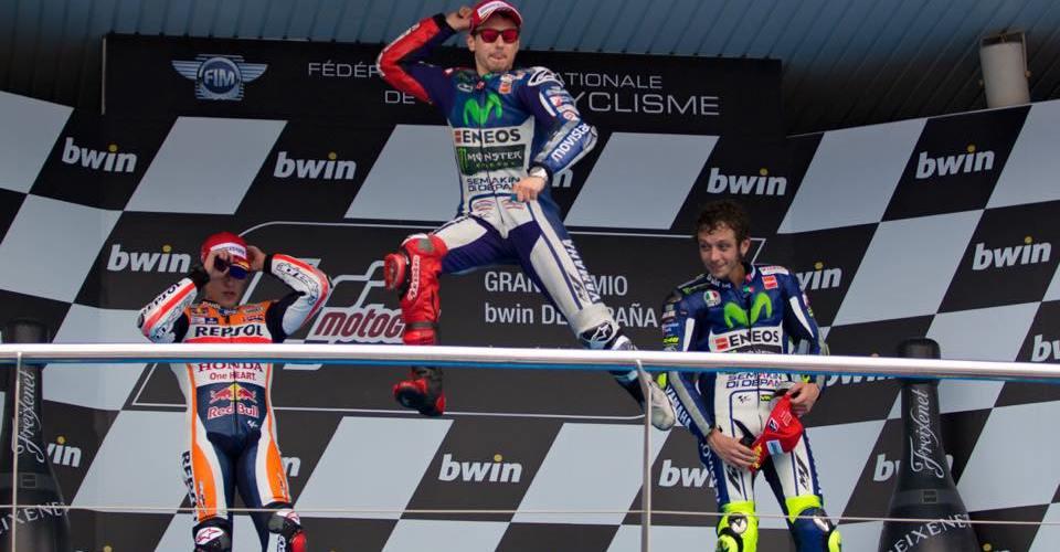 Jorge Lorenzo consigue su primer podio de la temporada