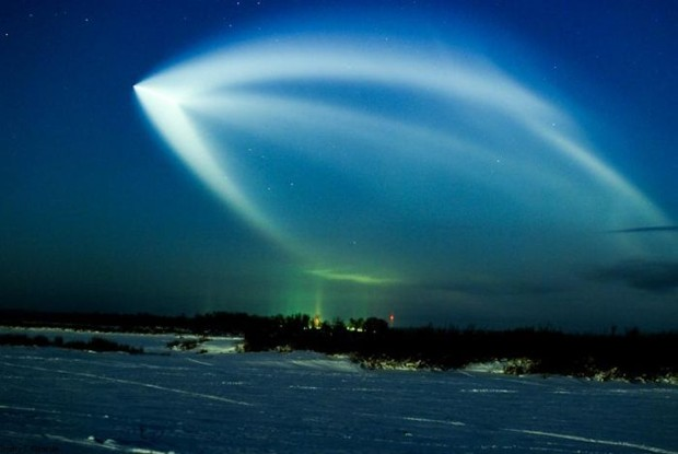 Phenomenon of light in the sky in Russia (20 pictures)