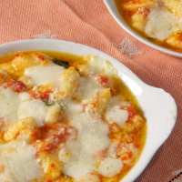 Gnocchi alla sorrentina (Potato Gnocchi with Tomato Sauce and Mozzarella)