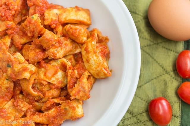 Frittatine in trippa (Frittata in Tomato Sauce)
