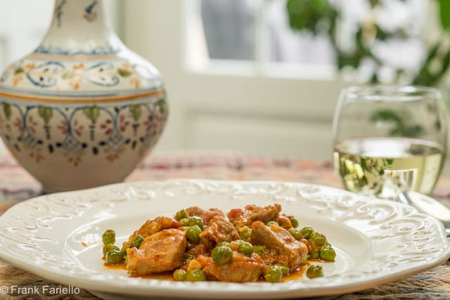 Spezzatino di vitello con piselli (Veal Stew with Peas)