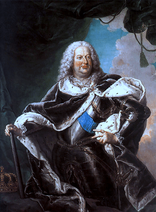 King Stanislas. From this portrait it looks as if he might have had a bit too much babà...