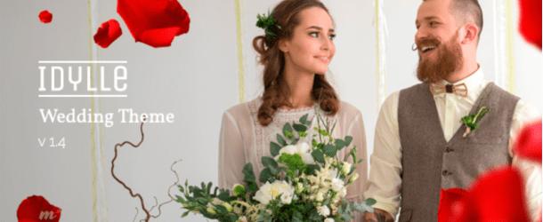 idylle responsive wedding wordpress theme