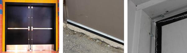 Double Hollow Metal Doors Brush Seals