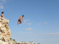 Cliff jumping for the brave!