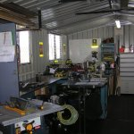 Metal shop at our shed