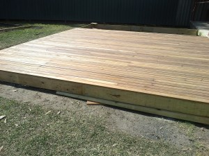 Deck Done, just needs a coat of Cabot's Woodstain.