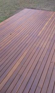 Deck completed left side