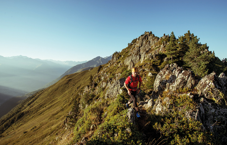 running in the Pyrenees