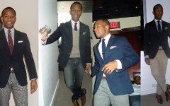 Sabir M. Peele with different Blue Blazer looks