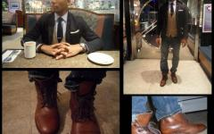 Boots by Asos - Shirt & Tie by Club Room - Jeans by Levi - Blazer & Cardigan by H&M