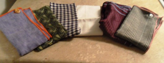 Pocket Squares in my personal collection