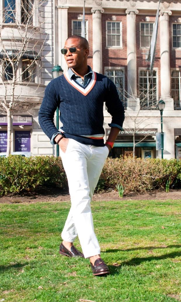 Sabir in Uniqlo Cricket Sweater