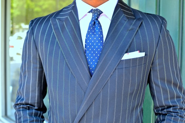 Hackett London Wool Linen Double Breasted Suit on Men's Style Pro