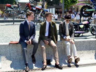 Guys at Pitti Uomo via Men's Style Pro