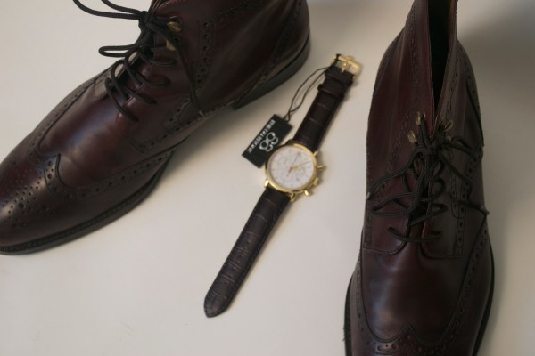 88 RUE DU RHONE watch x Johnston & Murphy Boots