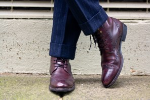 Navy Suits & Leather Shoe Styling