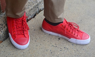 Sabir M. Peele in PF Flyers Nylon Sneakers