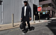 Sabir M. Peele of Men's Style Pro in Commonwealth Proper Style Raincoat