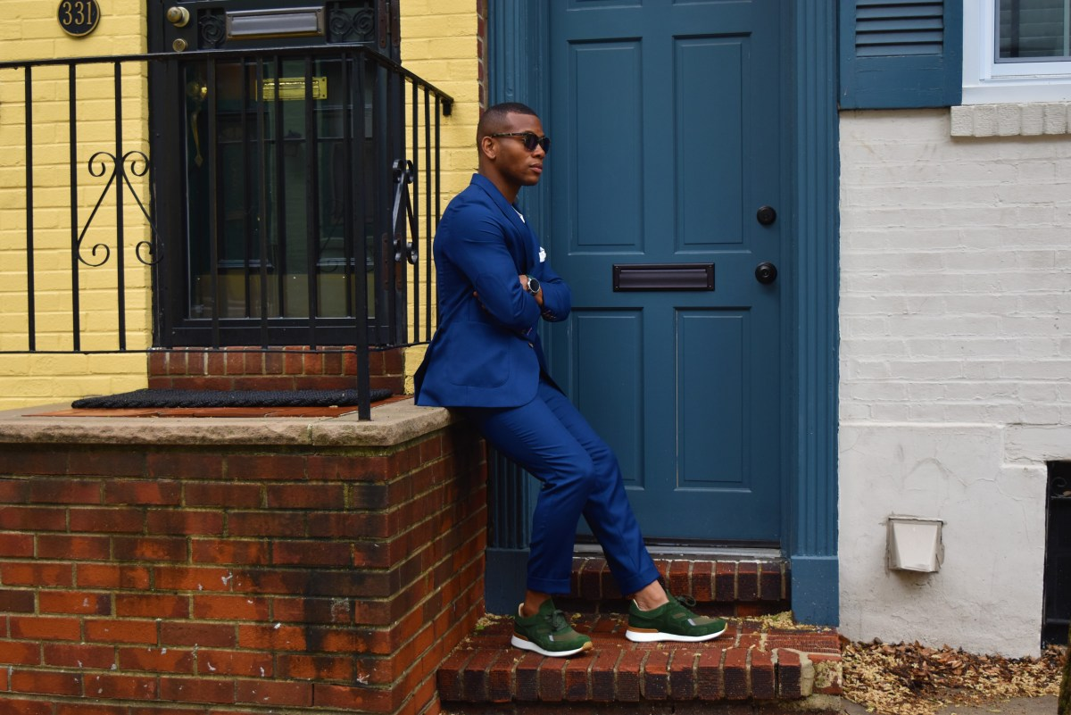 This Summer's Blue Hopsack Suit