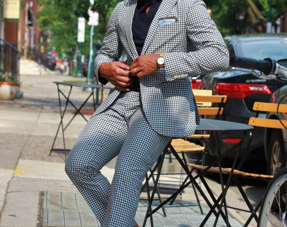 Sabir M. Peele of Men's Style Pro wearing Hardy Amies The Hardy Gingham Suit