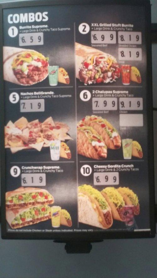 Medium Of Taco Bell Meal Deals