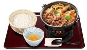 すき家 牛すき鍋定食