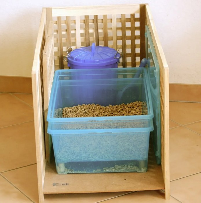 wood burning pellet diy litter box