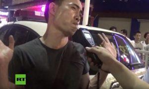 Chinês tenta enganar polícia no teste do bafômetro (álcool)