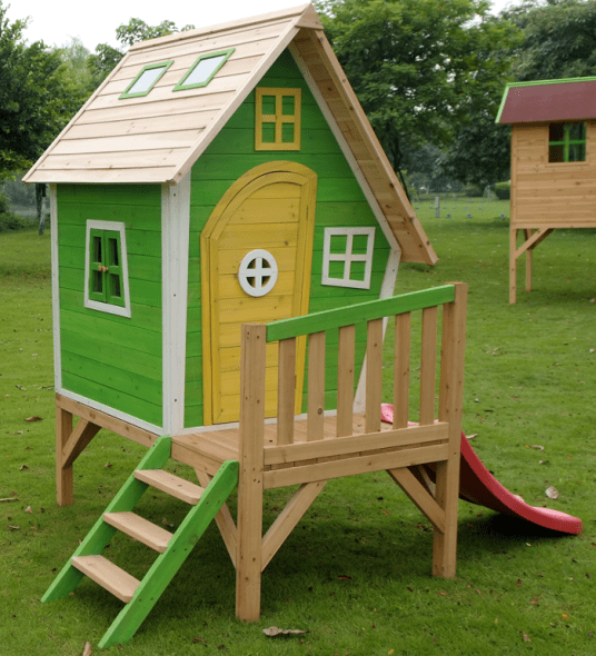 1-funky-wooden-playhouses-for-kids