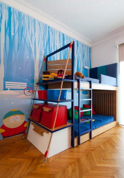 bunk bed love the storage