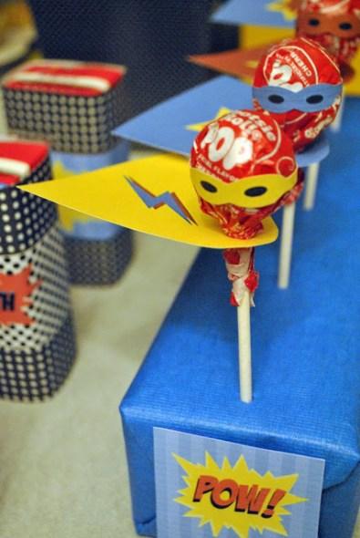 superhero lollipop