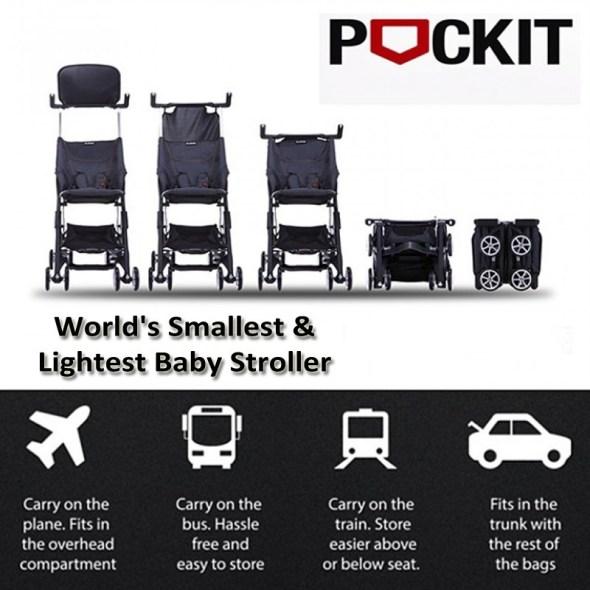 gb pockit stroller, passeggino che si ripiega più piccolo al mondo