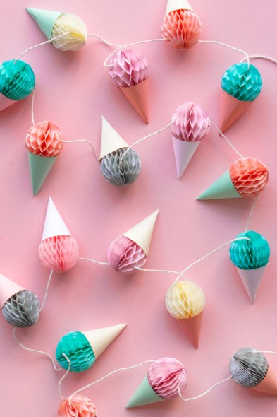 diy-mini-honeycomb-ice-cream-garland