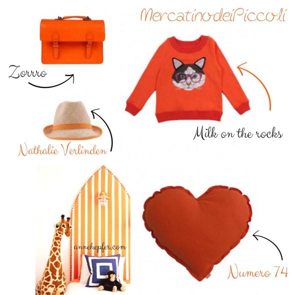 arancione abiti bambini