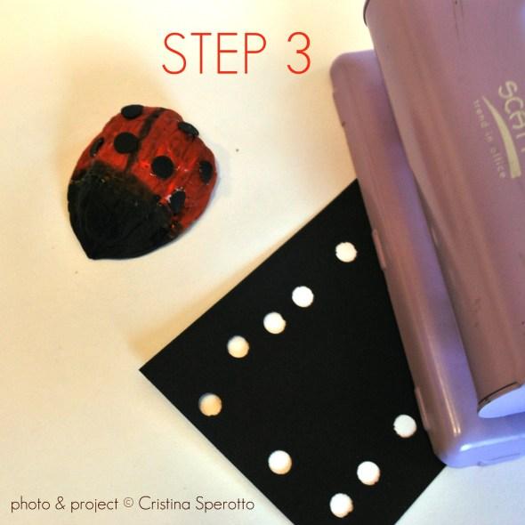 STEP 3+coccinelle+riciclo creativo+guscio noci+cristina sperotto