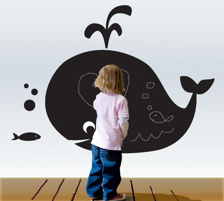 adesivo lavagna balena