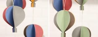 Mobile e mongolfiere: una bellissima idea fai da te