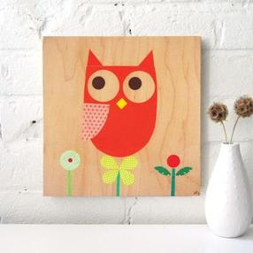 owl_flora wall art