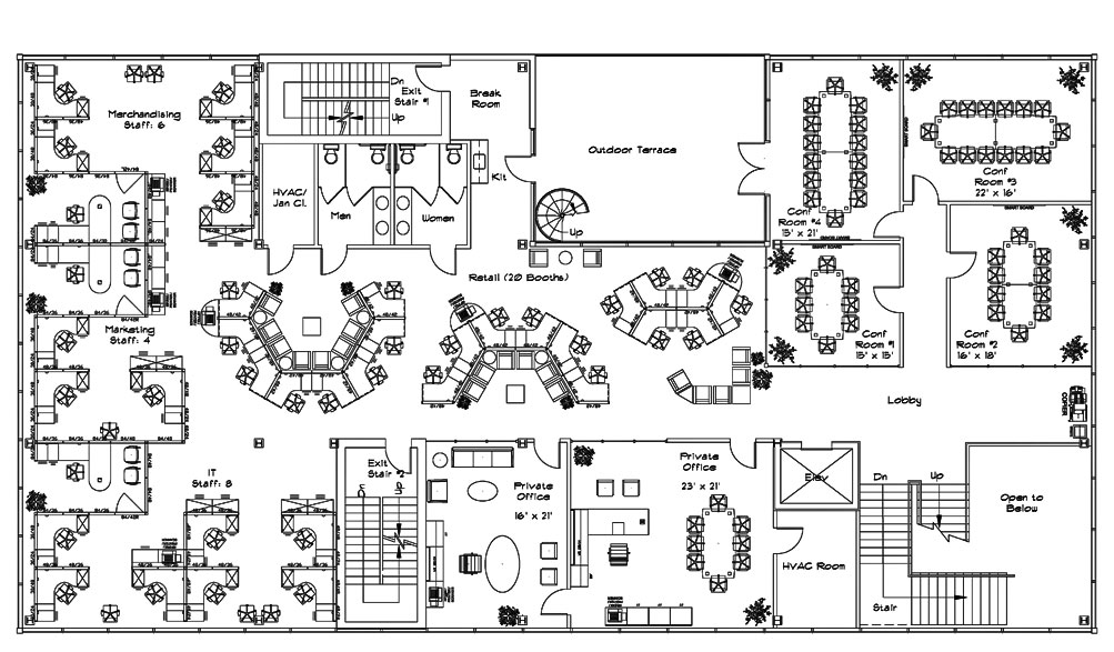 openplan open office floor plan space pinterest offices samples and design desk