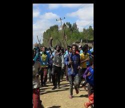 Oromo Protests at General Tadesse Biruu School, Ejere town, North Shoa, Ethiopia – 28 Dece ...
